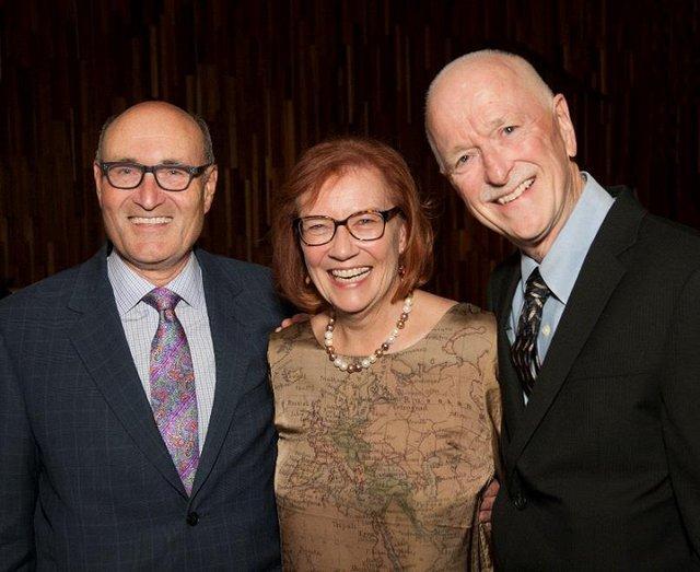 George Bezaire, Aritha Van Herk and George Webber at Glenbow