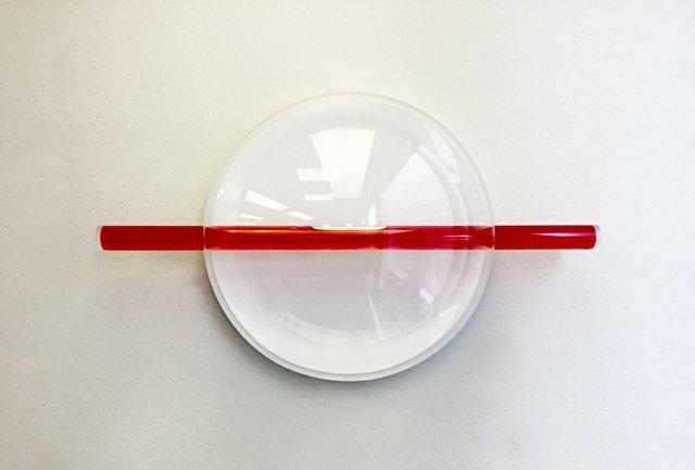 """Junichiro Iwase, """"Red Clock,"""" 2017"""