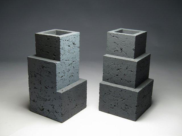 """Zane Wilcox, """"Ziggurat 3.3"""" and """"Ziggurat 3.4,"""" 2017"""