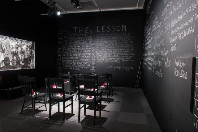 "Joane Cardinal-Schubert, ""The Lesson,"" 1989"