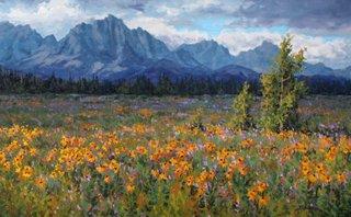 "Robert E Wood, ""Yamnuska Meadow,"" nd"