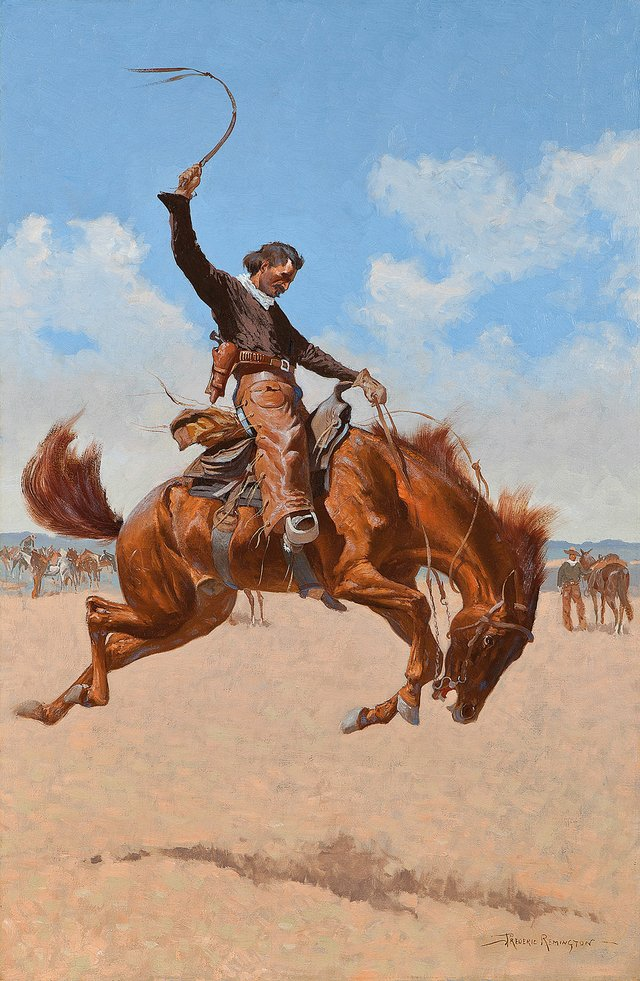 "Frederic Remington, ""A Buck-Jumper,"" about 1893"