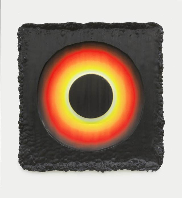 """Jeremy Hof, """"Fluorescent Ring on Purple,"""" 2014"""