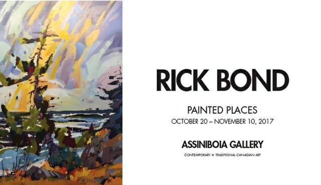 "Rick Bond ""Painted Places, Invitation,"" 2017"