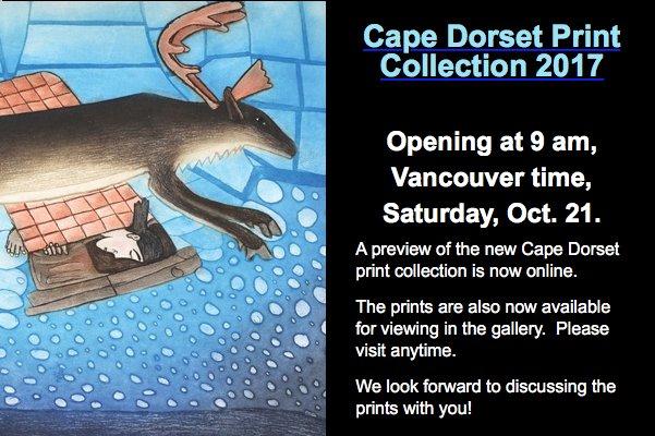 Cape Dorset Print Collection 2017 Invitation