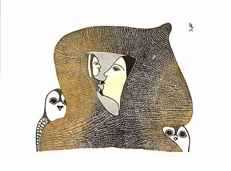"Pitaloosie Saila, ""Arctic Madonna,"" 1980"