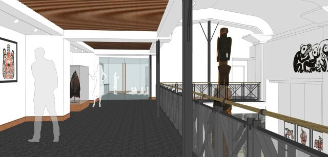 Proposed new gallery space on mezzanine level. Image courtesy Cr. Merrick Architecture.