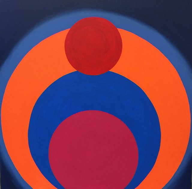 """Room for Mystics, """"No. 26 (orange sphere),"""" 2017"""