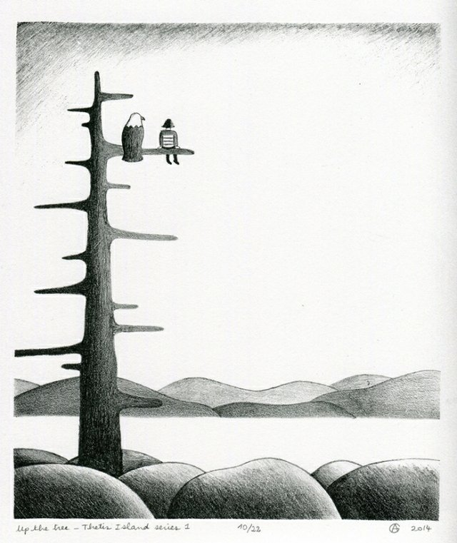 "Anais Gerber, ""Up the tree II,"" 2017"