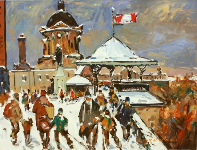 """Serge Brunoni, """"Quebec, Dufferin Terrace,"""" nd"""