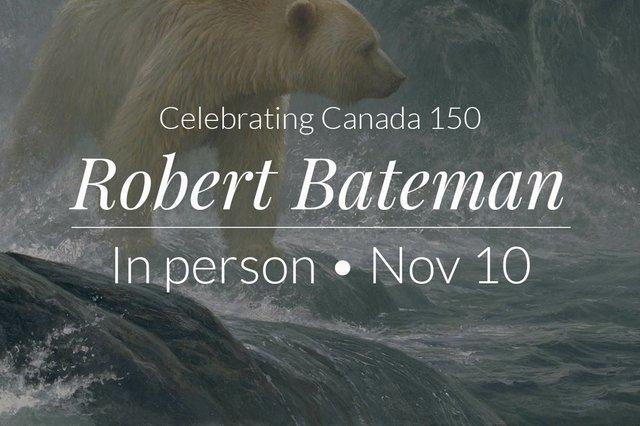 "Robert Bateman, In person at Pciture This,"" 2017"