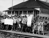 Striking students at Port Hammond public school in Haney in the 1930s. Photo by Stan Williams/Vancouver Sun.