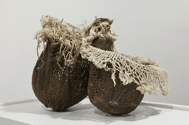 "Wabiska Maengun (Niki Little), ""Embed, Traditional bags created by KC Adams,"" 2017"