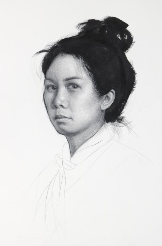 "Christienne Cuevas, ""Portrait of the Artist,"" 2017"