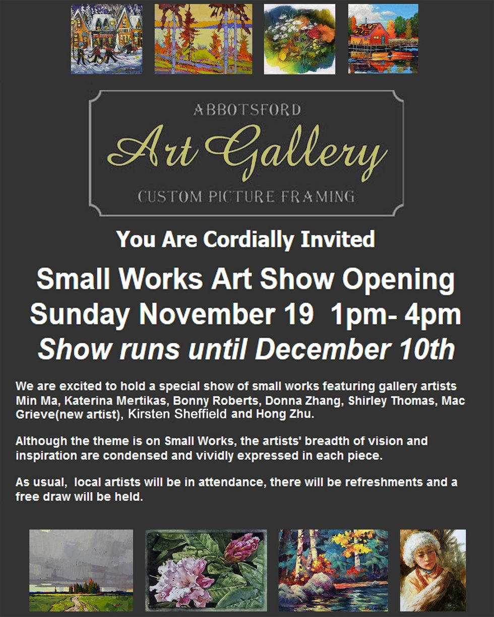 Abbotsford art gallery small works show galleries west for Columbia craft show 2017