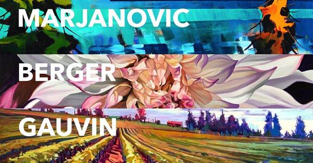 "Stephanie Gauvin, Don Berger, Branko Marjanovic, ""55th Annual Winter Art Show,"" 2017"