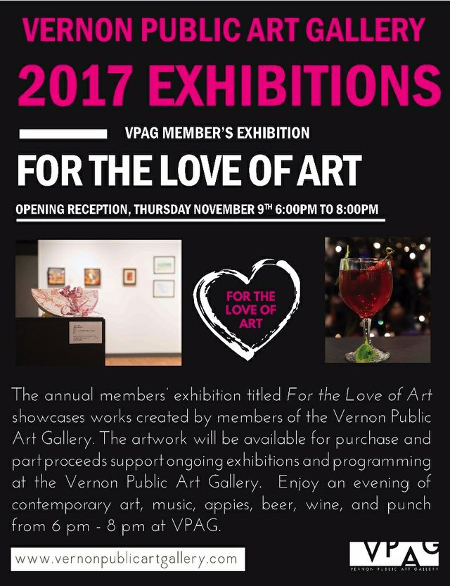 For the Love of Art, 2017 Invitation