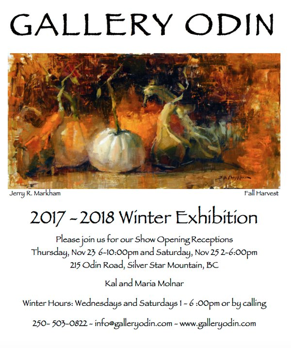 "Gallery Odin, ""2017-2018 Winter Exhibition,"" Invitation"