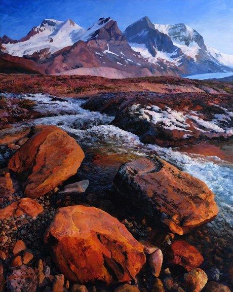 "Tim Schumm, ""Columbia Ice Field',"" 2017"