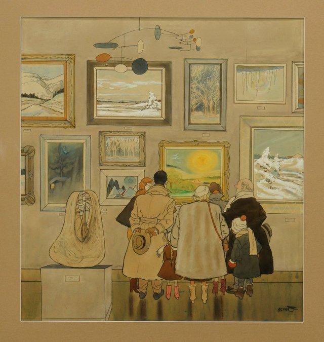 """Oscar Cahén, """"Untitled, IWC 142,"""" 1952"""