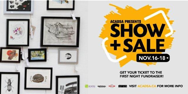 2017 ACADSA Winter Show + Sale, Invitation