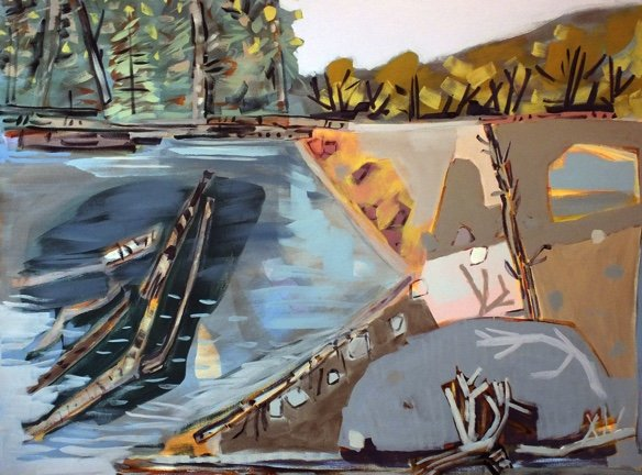 "Barbara Ballachey, ""Creek,"" 2017"
