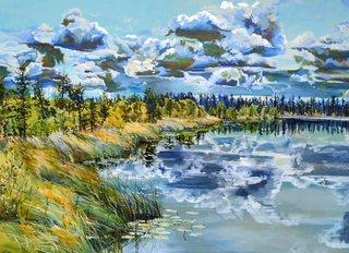 "Kelly Goerzen, ""Boundary Bog Shoreline,"" 2017"