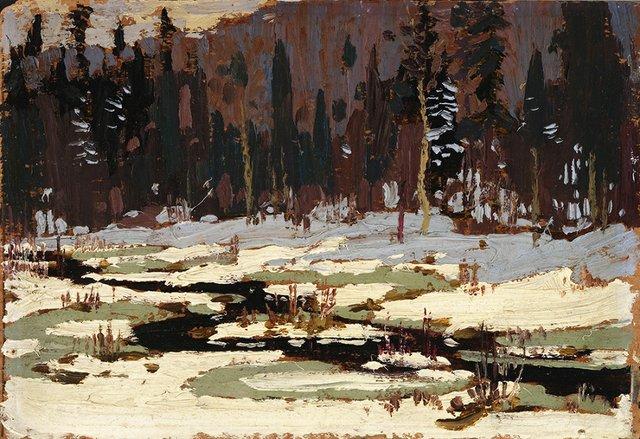 "Tom Thomson, ""Winter Scene,"" circa 1917"