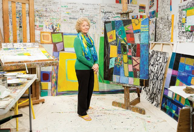 Sylvia Tait in her studio. Photo by Blaine Campbell.