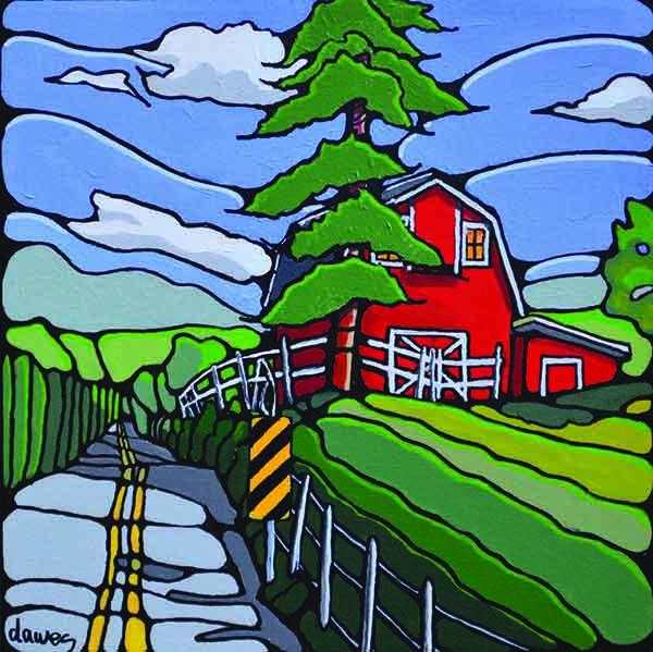 """Ken Dawes, """"The Barnyard, McMillan Road,"""" 2016"""