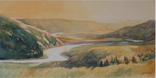 """Carol Lynn Gilchrist, """"The Valley Glows,"""" 2016"""