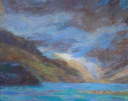 """Susan Elkins, """"Lake And Glacier, Lake O'Hara,"""" nd"""