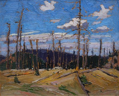 "Tom Thomson, ""Burnt Over Forest,"" 1915"