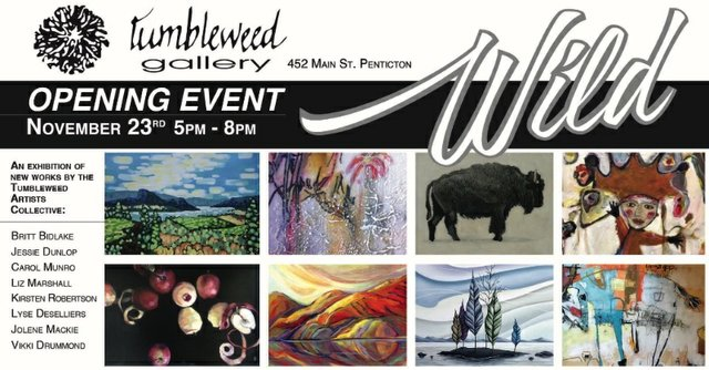 """Wild"" Tumbleweed Gallery invitation"