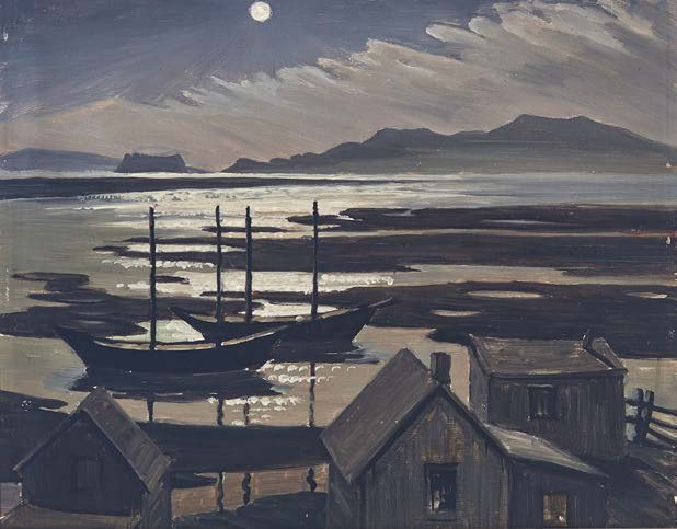 "Doris McCarthy, ""Moonlight on Percé Rock,"" 1945"
