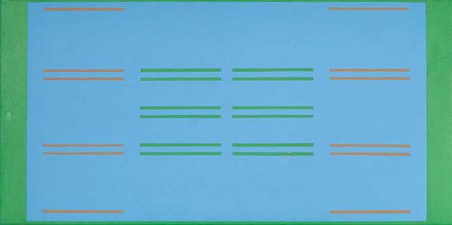 "Yves Gaucher, ""Etude pour progression bi-ascendante,"" 1965"