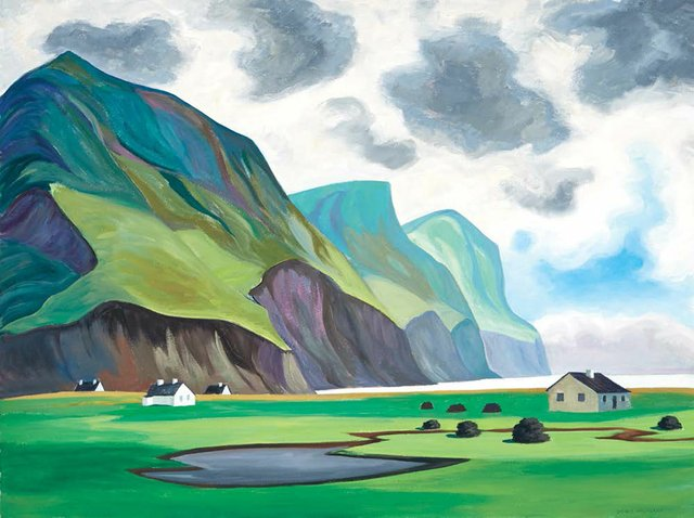 "Doris McCarthy, ""Storm Clouds of Keel,"" 1999"