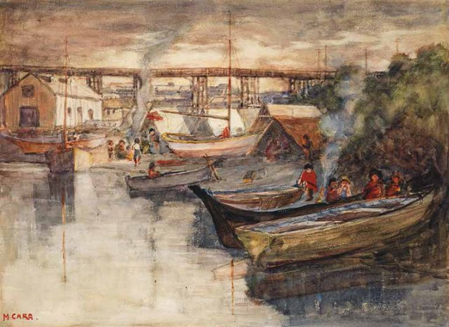 "Emily Carr, ""Indian Encampment, Vancouver,"" circa 1908-1909"