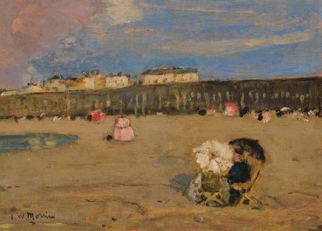 """J.W. Morrice, """"La petite plage de St-Malo,"""" circa 1899-1901"""