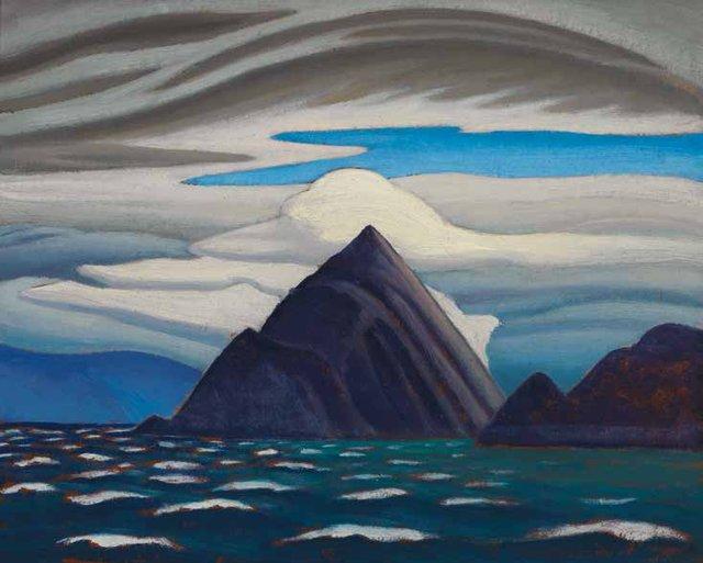 "Lawren Harris, ""Morin Island, Eclipse Sound, North Baffin Island, Arctic Painting XXXVI,"" 1930"