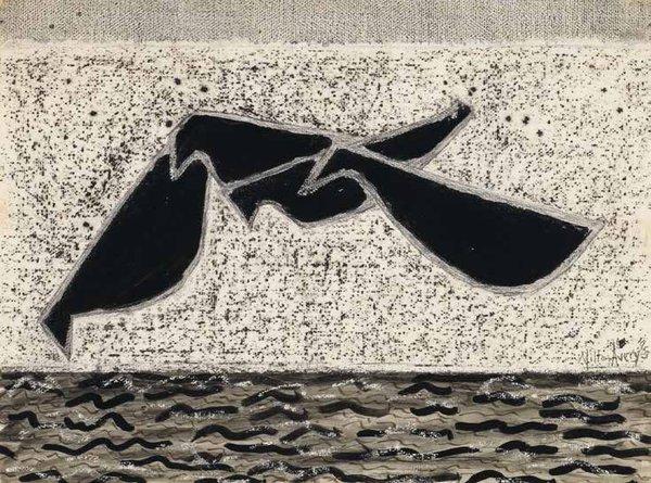 """Milton Avery, """"Beach Birds,"""" 1953"""