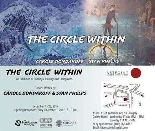 "Carole Bondaroff and Stan Phelps, ""The Circle Within,"" 2017"