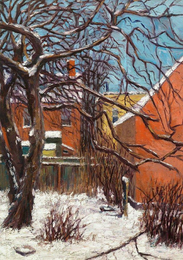 "Lawren Harris, ""Rear of Houses, Frances Street,"" 1910-1912"