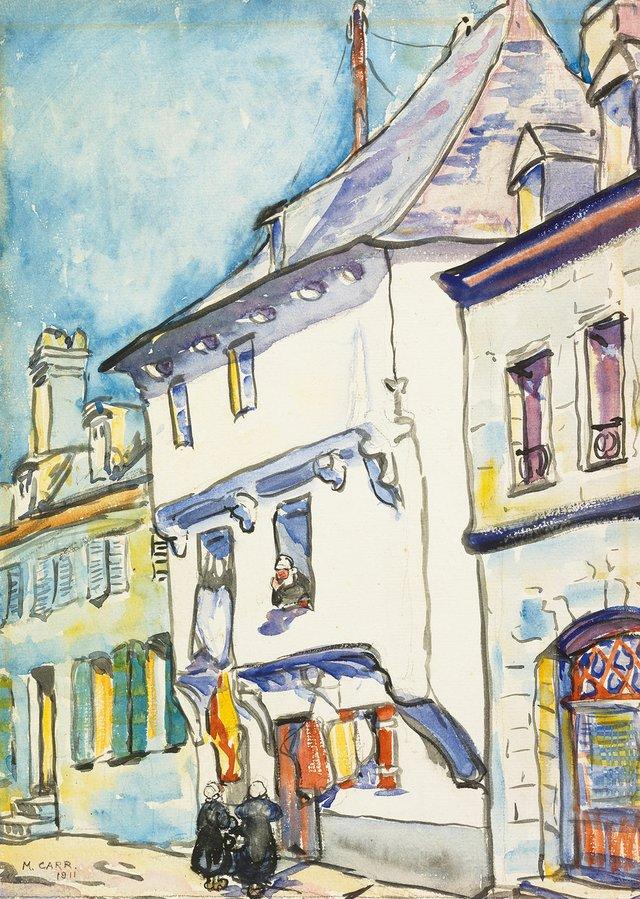 """Emily Carr, """"European Street Scene,"""" 1911"""