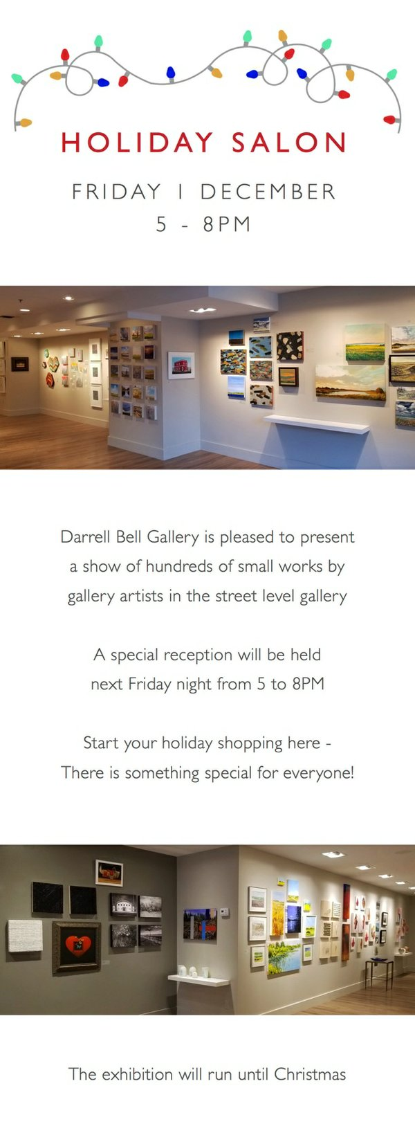 """Darrell Bell Gallery, """"Holiday Salon,"""" 2017"""