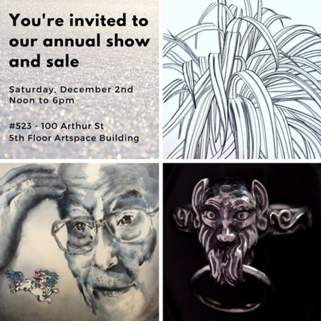 """Artspace, """"Annual Show and Sale,"""" 2017"""