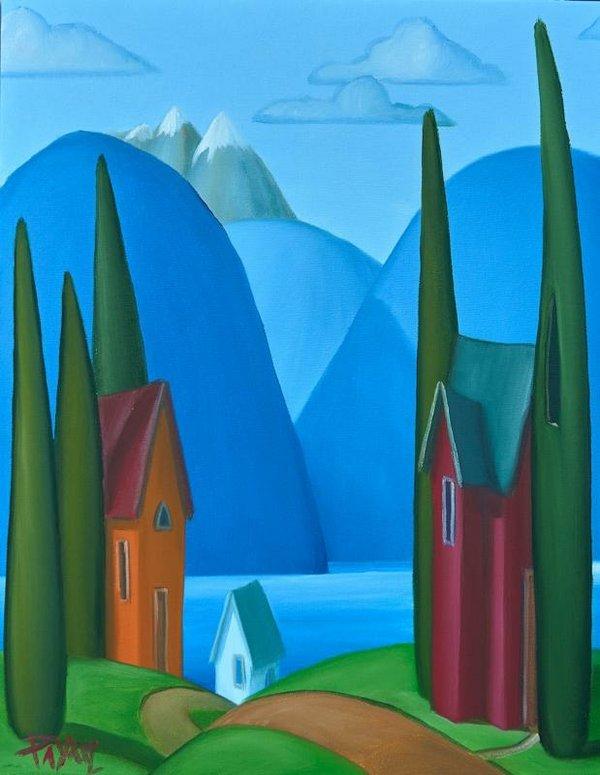 """Glenn Payan, """"Inlet Village,"""" 2017"""