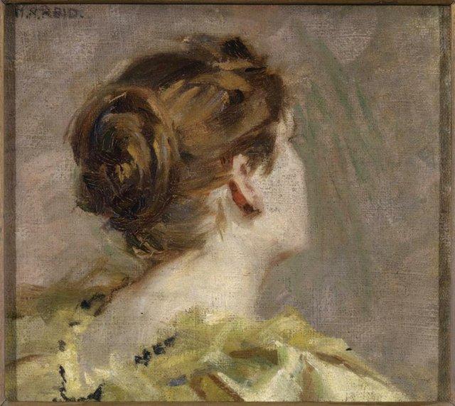 "Mary Hiester Reid, ""Study of a Head,"" c. 1874-1921"