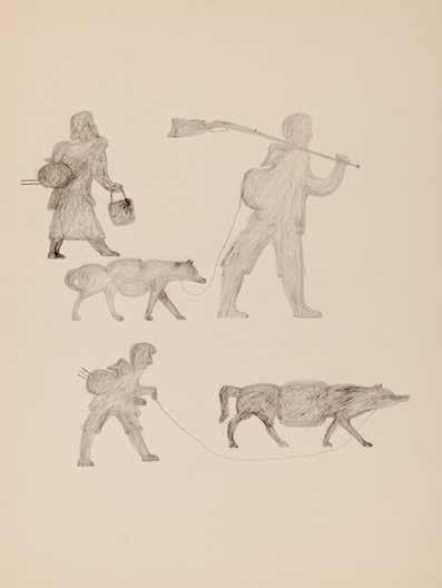 "Niviaqsi (Niviaksiak), ""The Family Hunting,"" circa 1957-1958"
