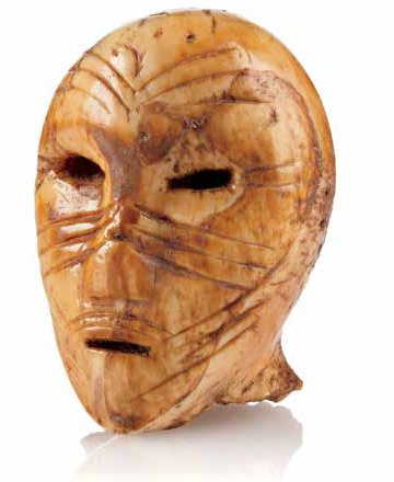 "Probably Panuk culture, Bering Sea, Alaska, ""Human Head,"" 500-1200 AD"